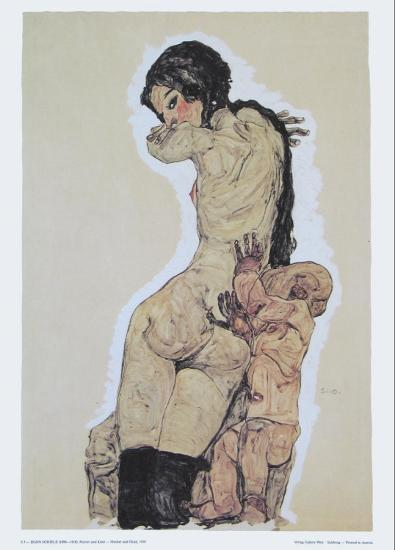 Mother and Child, 1910-Egon Schiele-Art Print