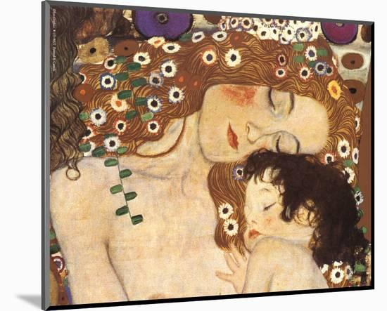 Mother and Child (detail from The Three Ages of Woman), c.1905-Gustav Klimt-Mounted Art Print