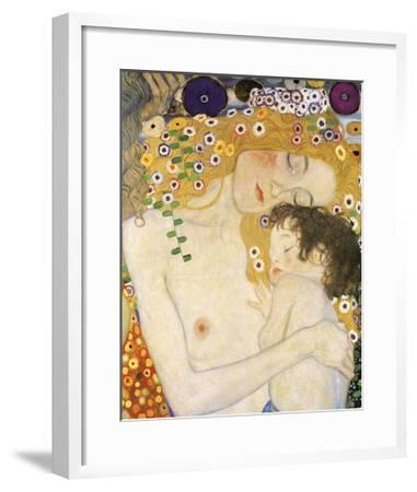 Mother and Child (detail from The Three Ages of Woman), c. 1905-Gustav Klimt-Framed Giclee Print