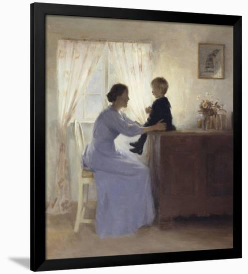 Mother and Child in an Interior, 1898-Peter Ilsted-Framed Giclee Print