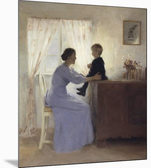 Mother and Child in an Interior, 1898-Peter Ilsted-Mounted Giclee Print