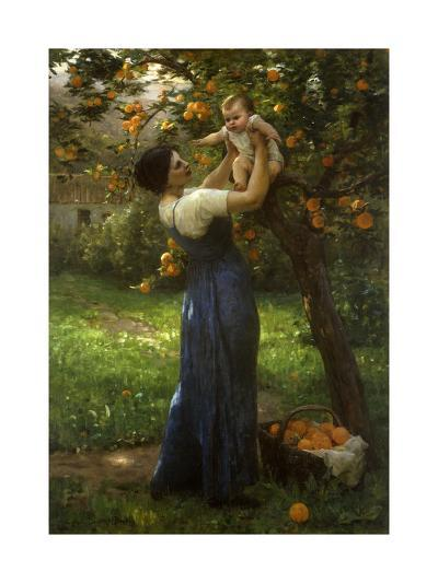 Mother and Child in an Orange Grove-Demont-Breton Virginie		-Giclee Print