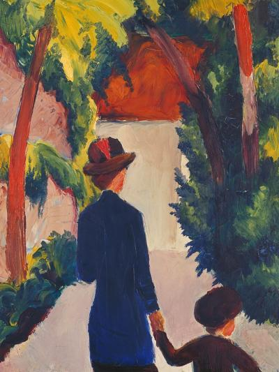 Mother and Child in the Park-Auguste Macke-Giclee Print