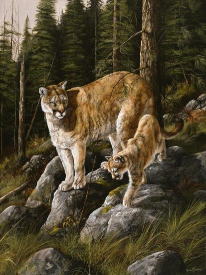 Mother and Child (Mt. Lions)-Trevor V. Swanson-Giclee Print