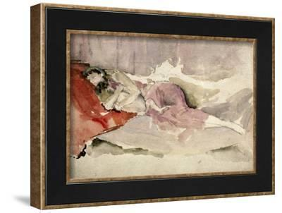 Mother and Child on a Couch-James Abbott McNeill Whistler-Framed Giclee Print