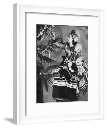 Mother and Child with Christmas Tree, Matyo People, Miskole, Hungary, 1936--Framed Giclee Print
