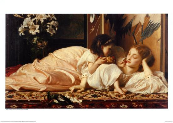 Mother and Child-Frederick Leighton-Art Print