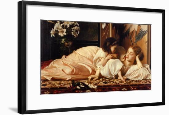 Mother and Child-Frederick Leighton-Framed Art Print