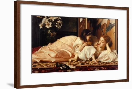 Mother and Child-Frederick Leighton-Framed Art Print