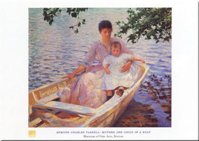 Mother And Child-Edmund Charles Tarbell-Art Print