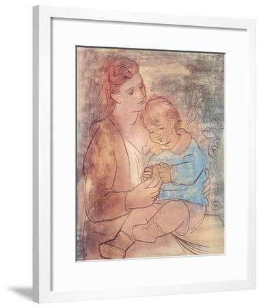 Mother and Child-Pablo Picasso-Framed Art Print