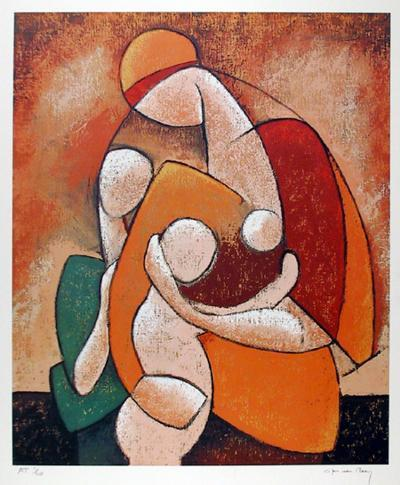 Mother and Child-Jan Van Raay-Limited Edition