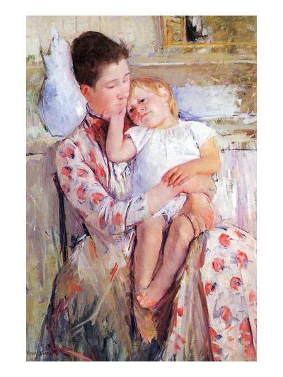 Mother and Child-Mary Cassatt-Art Print