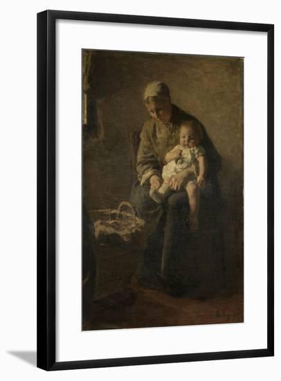 Mother and Child-Albert Neuhuys-Framed Art Print
