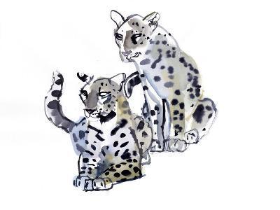Mother and Son (Arabian Leopards), 2008-Mark Adlington-Giclee Print