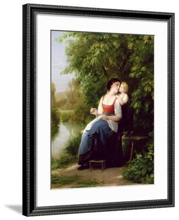 Mother and Son-Fritz Zuber-Buhler-Framed Giclee Print