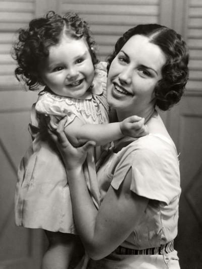 Mother and Young Daughter Hugging-George Marks-Photographic Print