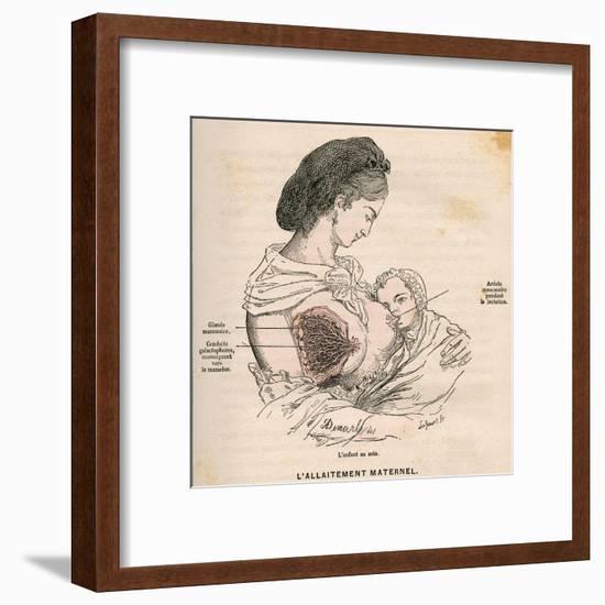 Mother Breastfeeding 19C-A. Demarle-Framed Giclee Print
