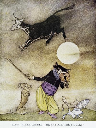 Mother Goose, 1913-Arthur Rackham-Giclee Print