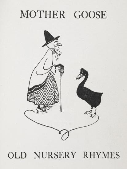 Mother Goose. Old Lady With Goose-Arthur Rackham-Giclee Print