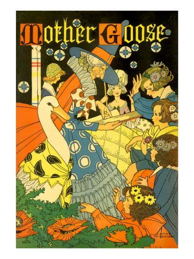 Mother Goose Reads--Giclee Print