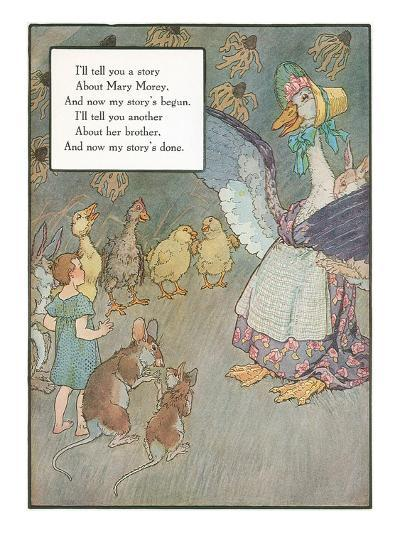 Mother Goose Rhyme, Animals--Art Print