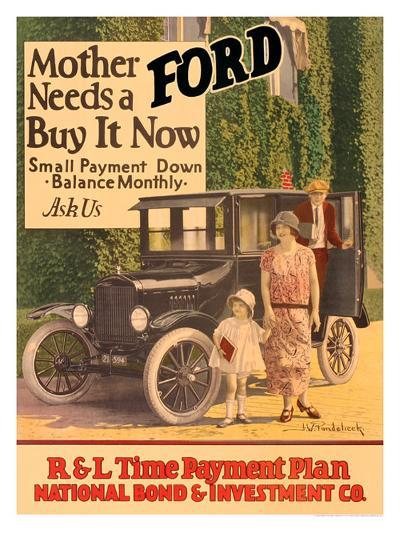 Mother Needs A Ford, Buy It Now-J^w^ Pondelicek-Giclee Print