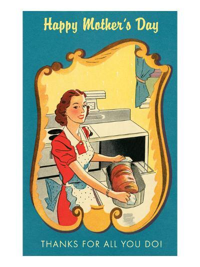 Mother's Day Thanks, Cooking--Art Print