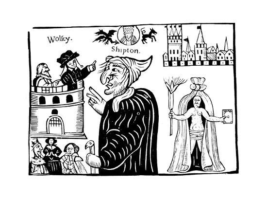 Mother Shipton (1488-C156) Prophesying the Death of Cardinal Wolsey--Giclee Print