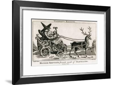 Mother Shipton in a Reindeer-Drawn Carriage--Framed Giclee Print