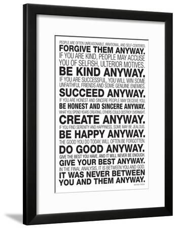 Mother Teresa Anyway Poster