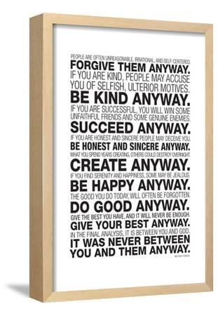 photo relating to Mother Teresa Do It Anyway Free Printable identify Desirable Mom Teresa art for sale, Posters and Prints