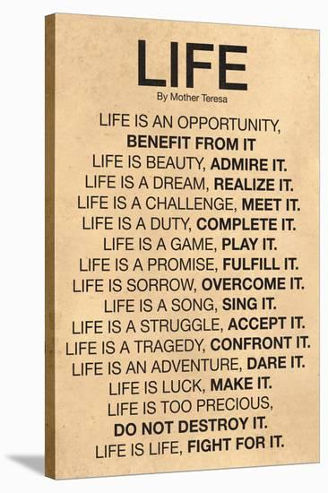 Mother Teresa Life Quote Poster Poster By Art Custom Life Quote Poster