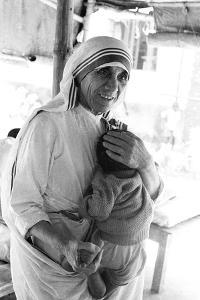 Mother Teresa with a Baby