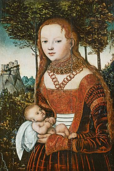 Mother with Child, C. 1525-Lucas Cranach the Elder-Giclee Print
