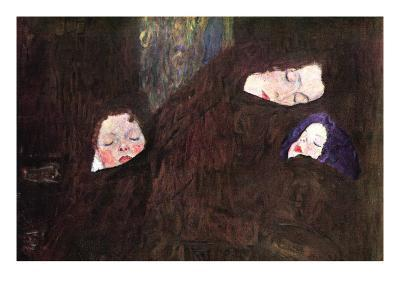 Mother with Children-Gustav Klimt-Art Print