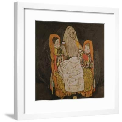 Mother with Two Children, 1917-Egon Schiele-Framed Giclee Print