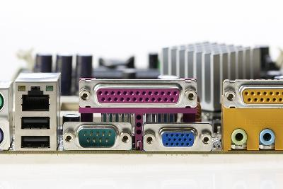 Motherboard Connectors-Colin Cuthbert-Photographic Print