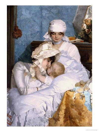 Motherly Love, 1883-Ferenc Innocent-Giclee Print