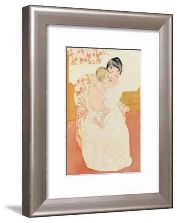 Motherly Tenderness-Mary Cassatt-Framed Art Print