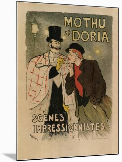 Mothu and Doria. (Scènes Impressioniste), 1893-Th?ophile Alexandre Steinlen-Mounted Giclee Print