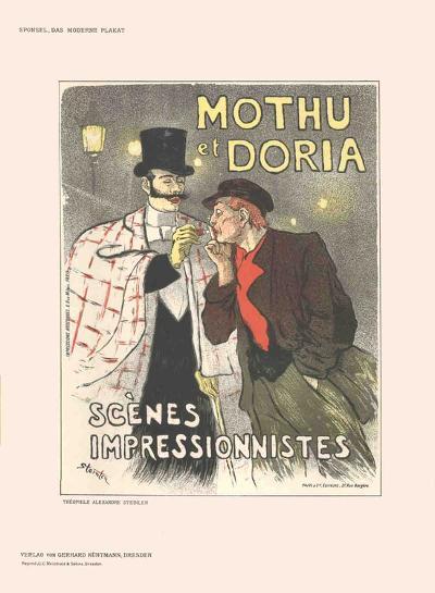 Mothu et Doria-Th?ophile Alexandre Steinlen-Collectable Print