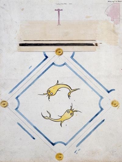 Motifs for a Bathroom Tile--Giclee Print