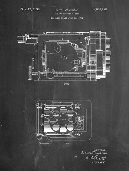 Motion Picture Camera 1932 Patent-Cole Borders-Art Print