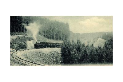 Motiv Der Brockenbahn Im Harz Im Fahrbetrieb--Giclee Print