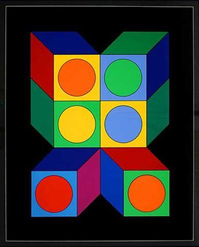 Motiv VIII-Victor Vasarely-Limited Edition