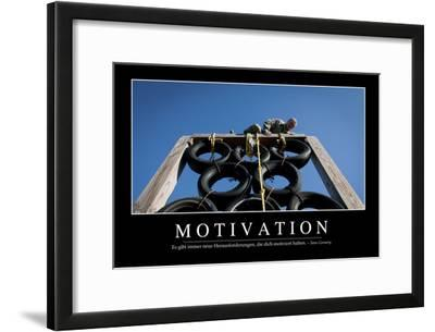 Motivation: Motivationsposter Mit Inspirierendem Zitat