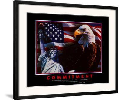 Motivational Commitment--Framed Art Print
