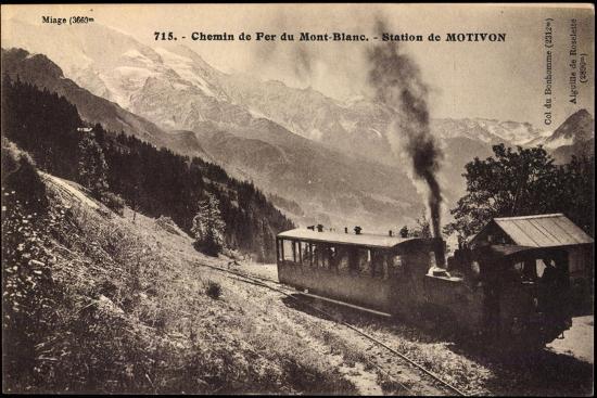 Motivon Haute Savoie, Chemin De Fer Du Mont Blanc--Giclee Print