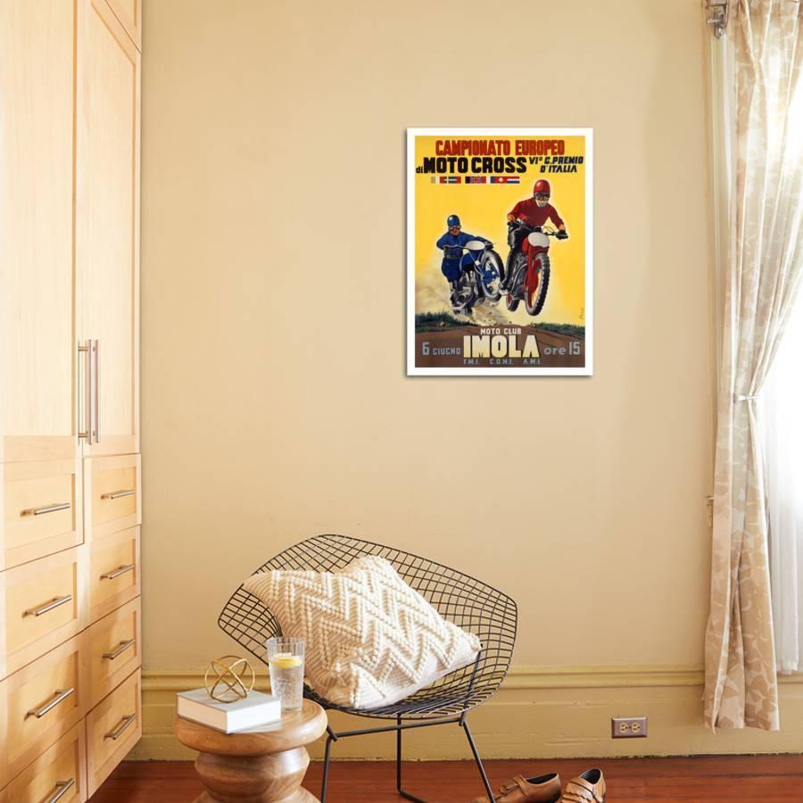 Moto Club Imola Motocross Giclee Print by Pozzi   Art.com